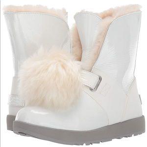 UGG White Isley Patent Waterproof Fashion Boot